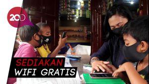 Aksi Polisi di Makassar, Berkeliling Dirikan Sekolah Online