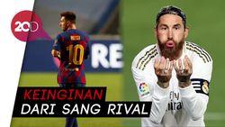 Sergio Ramos Ingin Messi Bertahan di Barcelona