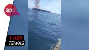 Detik-detik Penyelamatan ABK Kapal Tanker yang Terbakar di Sri lanka