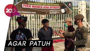 Tak Pakai Masker di Stadion Pakansari Bogor, Siap-siap Bersihkan Pemakaman