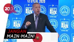 Ikut Campur Laut Mediterania, Erdogan Kecam Presiden Prancis