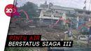 Jakarta Diguyur Hujan, Sampah Menumpuk di Pintu Air Manggarai