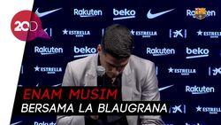 Momen Emosional Luis Suarez Pamit dari Barcelona