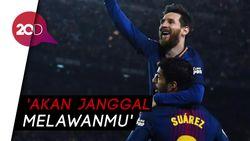 Pesan Perpisahan Messi Buat Suarez Sindir Petinggi Barcelona