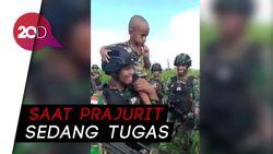 Viral Bocah Papua Nangis Ingin Ikut Prajurit TNI
