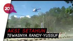 Massa Aksi di Kendari Kocar-kacir Dibubarkan Helikopter