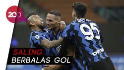 Hujan 7 Gol Warnai Kemenangan Inter dari Fiorentina