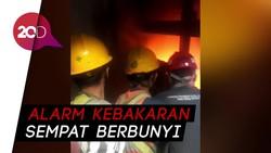 Api dan Kepulan Asap Muncul di Gedung Nusantara I DPR