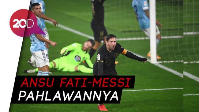 Saat 10 Pemain Barcelona Bungkam Celta Vigo 3-0