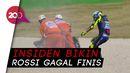 Insiden Rossi di MotoGP 2020: Motor Mogok hingga Low Side