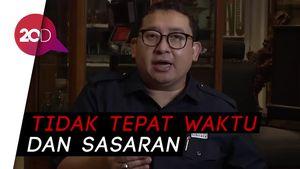 Fadli Zon Minta Maaf Tak Bisa Cegah Pengesahan Omnibus Law