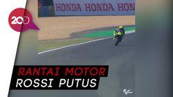 Kenangan Rossi di Le Mans, Rantai Ngacir Bak Ular