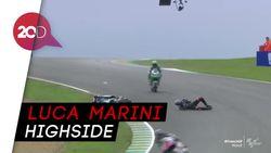 Adik Rossi Kecelakaan Parah di Free Practice II Moto2 GP Prancis