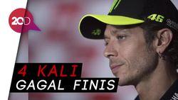 Apesnya Valentino Rossi, Lagi-lagi Gagal Finis Lagi