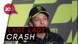 Baru Start, Valentino Rossi Sudah Crash di MotoGP Prancis