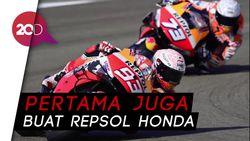Podium Perdana Alex Marquez di MotoGP Prancis 2020
