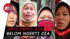 Pelajar Ikut Demo Omnibus Law, Begini Pendapat Para Emak-emak