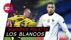 Dear Zidane, Real Madrid Jadi Rekrut Mbappe dan Haaland?