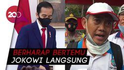 Hanya Bertemu Perwakilan Jokowi, Massa Buruh: Kami Tidak Puas!