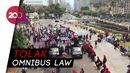 Massa Buruh Tolak Omnibus Law Tiba di Patung Kuda