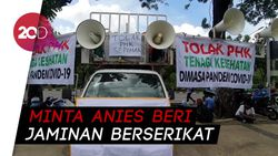 Tolak PHK Sepihak, Pekerja Ambulans Demo Anies