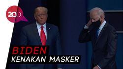 Netizen Komentari Trump Tak Kenakan Masker Saat Tiba di Ruang Debat