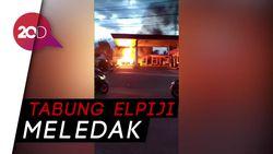 Detik-detik Mobil Bermuatan Elpiji Terbakar di SPBU Cianjur