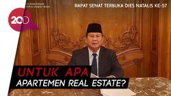 Prabowo di HUT FK UGM: Lahan Jadi Real Estate, Apa Kita Makan Beton?