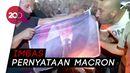Warga Palestina Bakar Foto Emmanuel Macron