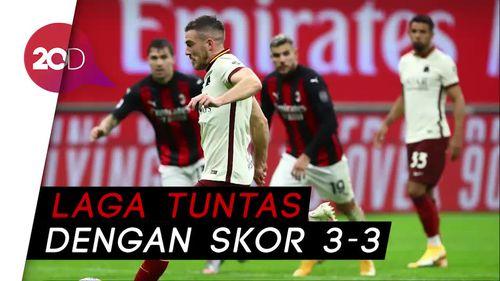 Duel Sengit AC Milan Vs AS Roma Berakhir Imbang