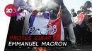 Kecam Karikatur Nabi, Pelajar di Pakistan Bakar Bendera Prancis