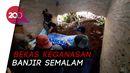 Banjir di Banyumas Berlalu, Sisakan Material Longsor di Rumah Warga