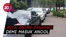 Antrean Kendaraan Mengular di Pintu Masuk Ancol