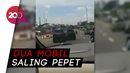 Heboh Aksi Tabrak-tabrakan 2 Mobil di Cibubur