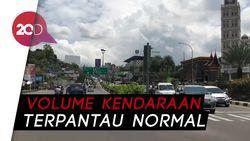 Lalu Lintas di Simpang Gadog Ramai Lancar