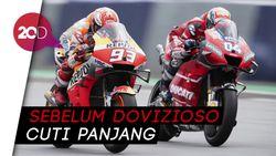 Lihat Lagi Duel Panas Dovizioso Vs Marc Marquez di MotoGP!