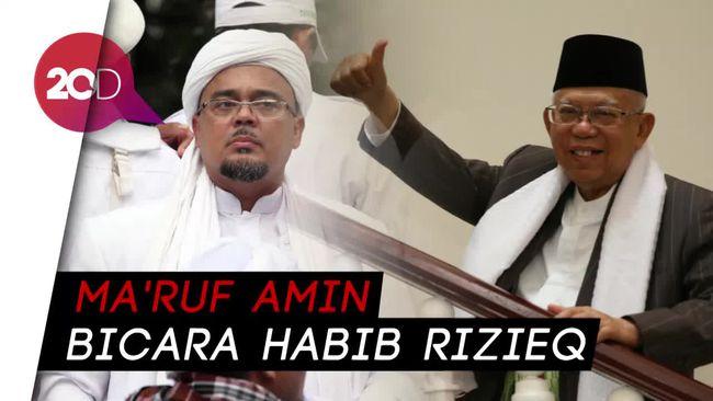 Lihat Lagi Pandangan Wapres Ma'ruf Soal Sosok Habib Rizieq