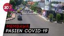 Detik-detik Mobil Ambulans Tabrak Polisi di Banyuwangi