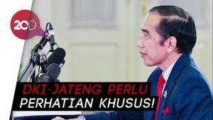 Jokowi: Peningkatan Kasus Covid-19 di DKI dan Jateng Drastis Sekali