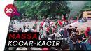 Detik-detik Massa Tolak Habib Rizieq di Makassar Diserang OTK