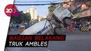 Ngeri! Truk Molen di China Ditelan Lubang Dadakan