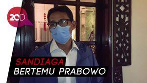 Prabowo Beri Selamat ke Sandiaga Usai Ditunjuk Jadi Menteri