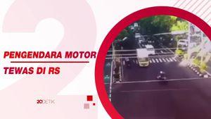 Detik-detik Truk Boks Terobos Lampu Merah dan Tabrak Pemotor di Klaten