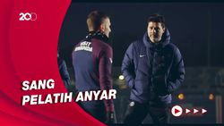 Momen Latihan Perdana PSG Dipimpin Pochettino