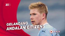 Guardiola Santai Kevin de Bruyne Belum Perpanjang Kontrak