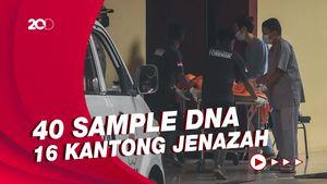 Tim DVI Polri Terima 40 Sampel DNA, 16 Kantong Jenazah