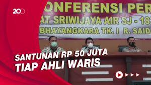 Jasa Raharja Beri Santunan untuk 4 Keluarga Korban Sriwijaya Air SJ182