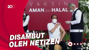 Vaksinasi Perdana, #JokowiDiVaksin Trending di Twitter