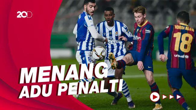 Bekuk Real Sociedad, Barcelona ke Final Piala Super Spanyol