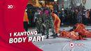 KRI Kurau Serahkan 4 Kantong Serpihan Pesawat Sriwijaya SJ182